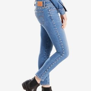 Levi's 711 Silver Stud Ankle Skinny Jeans 27